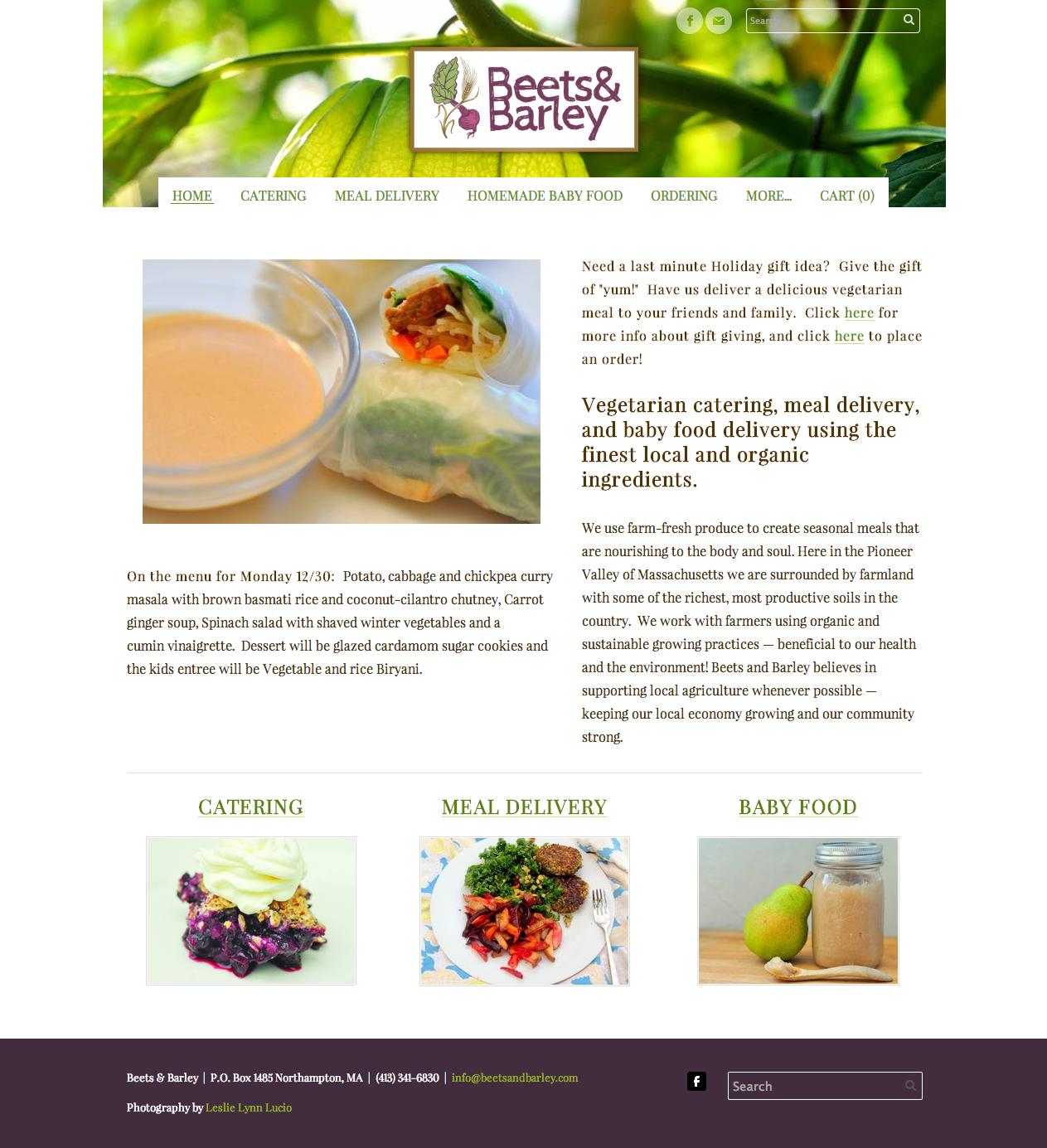 Beets & Barley | Website